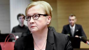 Jari Aarnios försvarsadvokat Riitta Leppiniemi 8.3.2016.
