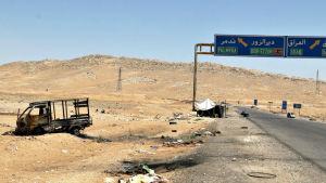 En väg som leder till Palmyra.