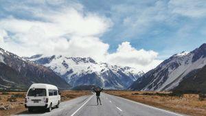 Emil Berglund i Nya Zeeland.