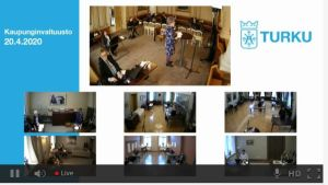 Bild på en videokonferens.