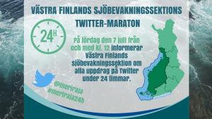 Reklam för sjöbevakningens twittermaraton