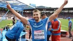 Yleisurheilun EM 2014: Ruuskasen kaikki finaaliheitot