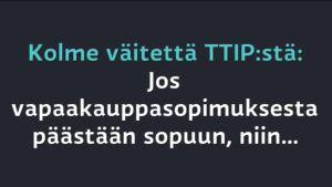 Uutisvideot: Kauppakomissaari Malmström vastaa kolmeen TTIP-väitteeseen