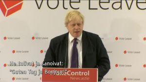 Uutisvideot: Britannian EU-eroa ajava moottoriturpa – Boris Johnsonin verbaaliakrobatia vetoaa kansaan