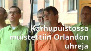 Uutisvideot: Orlandon uhreja muistettiin Helsingissä