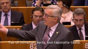 Uutisvideot: Kaksintaistelu Euroopan parlamentissa