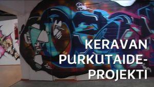 Uutisvideot: Katutaide valtasi Keravan keskustan purettavat liikekiinteistöt