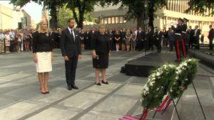 Uutisvideot: Utøyan ja Oslon terrori-iskuista viisi vuotta – video muistotilaisuudesta