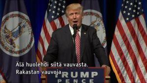 Uutisvideot: Trump hääti itkevän vauvan kampanjatilaisuudestaan