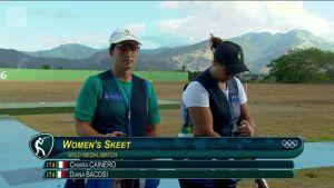 Rion olympialaiset: Naisten skeet finaali italialaiskomennossa
