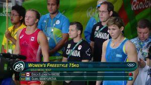 Rion olympialaiset: Erica Wiebe paini itselleen ensimmäisen arvokisamitalin!