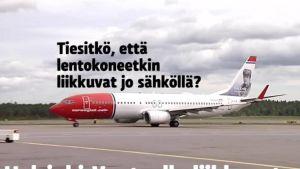 Uutisvideot: Sähkö liikuttaa jo lentokoneitakin Helsinki-Vantaalla