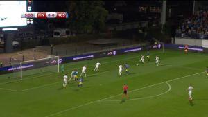 Jalkapallon MM 2018 karsinta: Huippuhetket Suomen ja Kosovon MM-karsintojen ottelusta