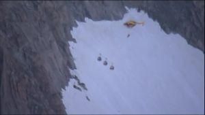 Uutisvideot: Mont Blancilla pelastettiin viimeisetkin köysiradalla jumissa olleet