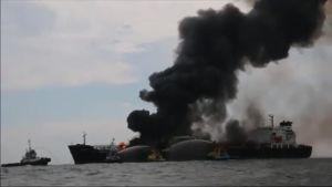 Uutisvideot: Öljytankkeri syttyi tuleen Meksikonlahdella