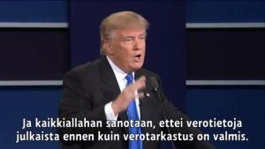Uutisvideot: Trump: Julkaisen verotietoni, jos Clinton julkistaa sähköpostinsa