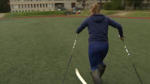 Urheilujuttuja: Elina Risku antoi näyttöjä Lahden MM-hiihtoihin