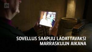 Yle Uutiset Lounais-Suomi: Piispa Kaarlo Kalliala testasi uutta lisätyn todellisuuden sovellusta Turun tuomiokirkossa