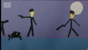 Uutisvideot: Lasten itse tekemässä animaatiossa ei säästytä verenvuodatukselta