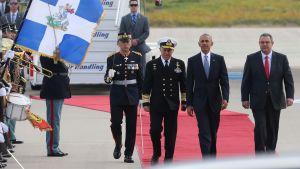 Presidentti Obama ja pääministeri Tsipras puhuvat lehdistötilaisuudessa