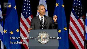 Uutisvideot: Yhdysvaltain presidentti Barack Obama puhui Kreikassa demokratian tulevaisuudesta