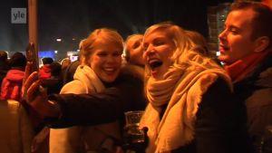 Uutisvideot: Uuden vuoden juhlintaa Helsingin keskustassa