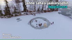 Uutisvideot: Huikea jääkaruselli mökkirannassa