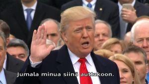 Uutisvideot: Donald Trump vannoi virkavalansa käsi kahdella Raamatulla