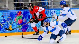Jääkiekon naisten MM, Suomi - Yhdysvallat
