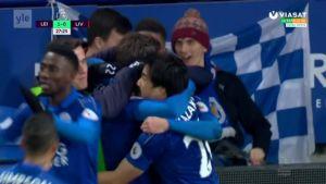 Urheilujuttuja: Leicester virkosi Ranierin potkuista, Liverpool kaatui