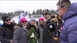 """MM-Lahti, päivän tapahtumat: """"Iivo leikki jo pikkupoikana Mika Myllylää"""" - maalmanmestaruus herkisti Niskasen perheen"""