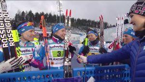 MM-Lahti, päivän tapahtumat: Suomen viestinaiset mitalitunnelmissa