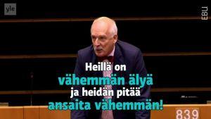 Uutisvideot: Puolalainen halvensi naisia EU-parlamentissa