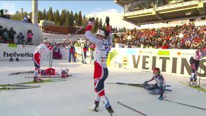 MM-Lahti, päivän tapahtumat: Naisten MM-maastohiihdot päättyivät norjalaisten neloisvoittoon