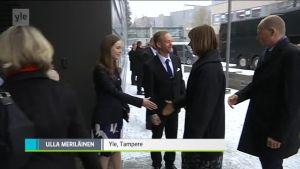 Yle Uutiset Pirkanmaa: Viron presidentti kävi pikavisiitillä Tampereella