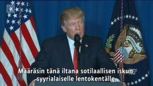 Uutisvideot: Donald Trump määräsi ilmaiskun Syyriaan