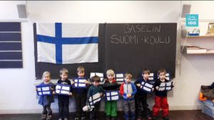 Yle Uutiset selkosuomeksi: Suomi 100: Terveisiä Baselin Suomi-koulusta