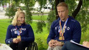 Ylen aamu-tv: Maailmanmestarit Leo-Pekka Tähti ja Amanda Kotaja