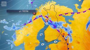 Uutisvideot: Sateet pyyhkivät yli Suomen