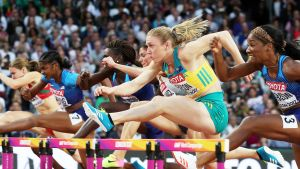 Yleisurheilun MM: Sally Pearson nopein pika-aidoissa