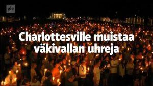 Uutisvideot: Video: Charlottesville peittyi kynttilämereen