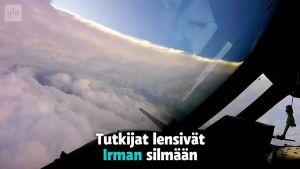 Uutisvideot: Lento myrskyn silmään