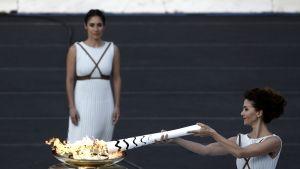 Pyeongchangin olympiatuli syttyy Ateenassa