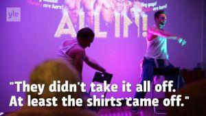 Muscular Scandinavian Hunks make pulses race at Helsinki senior facility