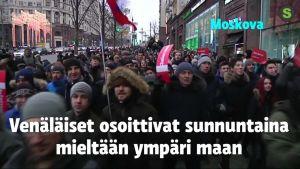 Uutisvideot: Venäjällä mielenosoituksia ympäri maan