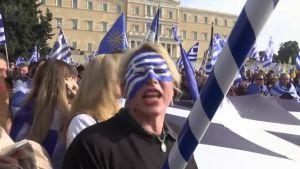 Uutisvideot: Mielenosoittajat liikeellä Ateenassa