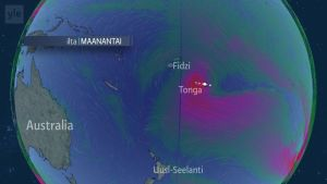Säänurkka: Hirmumyrsky Gita liikkuu Tongan yli