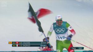 Korean olympialaiset: Meksikolaishiihtäjä laittoi show'n pystyyn hiihtostadionilla