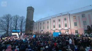 Uutisvideot: Viron 100-vuotispäivän juhlallisuudet aloitettiin virallisesti lipunnostolla Tallinnassa