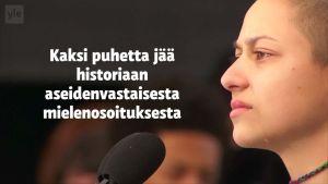 Uutisvideot: Nuorten aseidenvastaisessa protestissa pitämät puheet jäävät historiaan